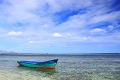 Vissersboot, Mauritius stock fotografie