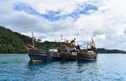 Vissersboot op het overzees, Thailand royalty-vrije stock afbeelding