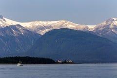 Vissersboot op Juneau, Alaska royalty-vrije stock afbeelding