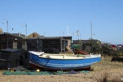 Vissersboot op Strand Royalty-vrije Stock Fotografie