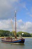 Vissersboot, Rijn, de Rivier van Rijn, Duitsland Stock Foto