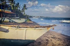 Vissersboot Sri Lanka Stock Foto's