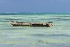 Vissersboot in Zanzibar Royalty-vrije Stock Afbeeldingen