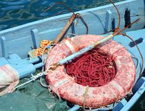 Vissersbootdetail stock fotografie