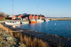 Vissersboothaven stock foto's