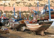Vissersboten in Agadir Royalty-vrije Stock Foto's
