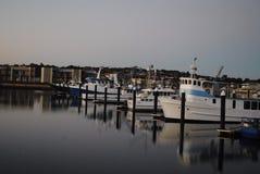 Vissersboten bij de jachthaven van Havenlincoln, Zuid-Australië Royalty-vrije Stock Foto