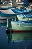 Vissersboten bij haven Stock Fotografie