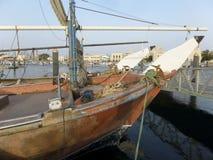 Vissersboten bij het dok royalty-vrije stock foto's