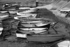Vissersboten bij Leigh-op-Overzees, Essex, Engeland Royalty-vrije Stock Foto's