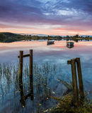 Vissersboten bij Loch Rusky Stock Fotografie