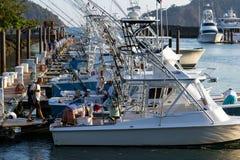 Vissersboten in de Jachthaven Royalty-vrije Stock Fotografie