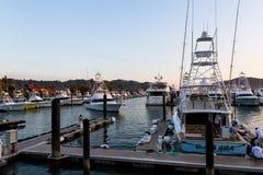 Vissersboten in de Jachthaven Stock Foto