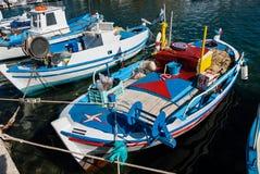 Vissersboten in Griekenland Royalty-vrije Stock Foto's