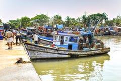 Vissersboten in Kerala, India Stock Afbeelding