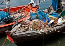 Vissersboten in Khao Takiab Stock Foto's