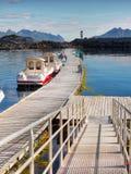 Vissersboten, Lofoten Stock Foto's