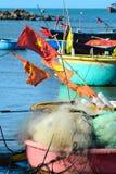 Vissersboten in Nha Trang, Vietnam Stock Fotografie