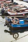 Vissersboten op een dok royalty-vrije stock fotografie