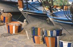 Vissersboten, paphos, Cyprus royalty-vrije stock foto