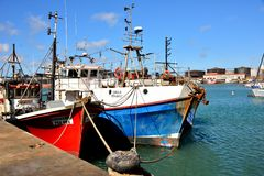 Vissersboten Port Elizabeth Royalty-vrije Stock Foto's