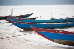 Vissersboten Vietnam stock afbeelding