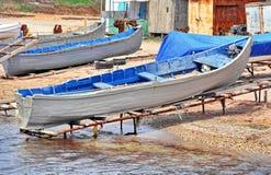 Vissersboten in visserij royalty-vrije stock afbeelding