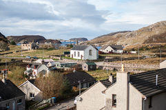 Vissershaven in noordwestenschotland Stock Foto