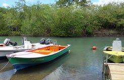 Vissershaven van Petit Kanaal in Guadeloupe Stock Fotografie