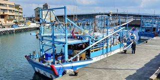 Vissershaven van Taiwan royalty-vrije stock foto's