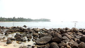 Vissersstelten in Sri Lanka stock video