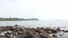 Vissersstelten in Sri Lanka stock videobeelden