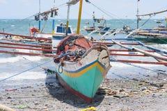 Vissersvaartuigen in de Filippijnen Stock Foto