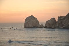 Vissersvlootrubriek uit in Cabo San Lucas Royalty-vrije Stock Foto