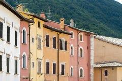Visso (gränser, Italien) Arkivbilder