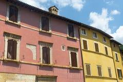 Visso (Märze, Italien) Stockfotografie