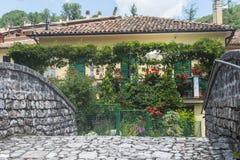 Visso (Marches, Italie) Photo stock