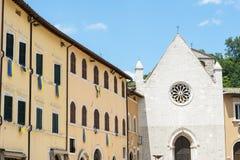Visso (Marches, Italie) Photographie stock libre de droits