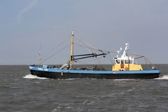 Vissser boat on the Wadden Sea Royalty Free Stock Photos