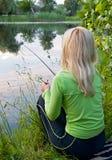 Visster op de rivier stock foto's