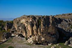 Vista à caverna do período bizantino no vale de Phrygian Imagens de Stock Royalty Free