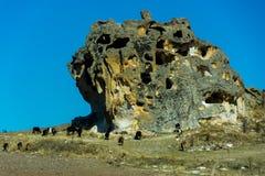 Vista à caverna do período bizantino no vale de Phrygian Imagem de Stock Royalty Free