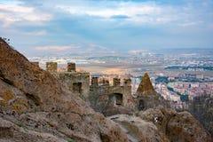 Vista à cidade de Afyonkarahisar do castelo Fotografia de Stock