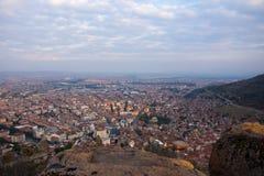 Vista à cidade de Afyonkarahisar do castelo Imagem de Stock Royalty Free