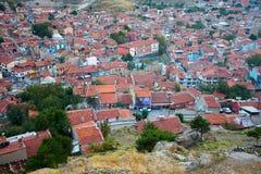 Vista à cidade de Afyonkarahisar do castelo Foto de Stock Royalty Free