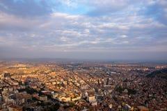 Vista à cidade de Afyonkarahisar do castelo Imagens de Stock Royalty Free