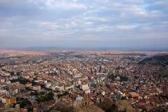 Vista à cidade de Afyonkarahisar do castelo Imagens de Stock