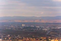 Vista à cidade de Afyonkarahisar do castelo Imagem de Stock