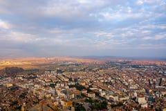 Vista à cidade de Afyonkarahisar do castelo Fotografia de Stock Royalty Free