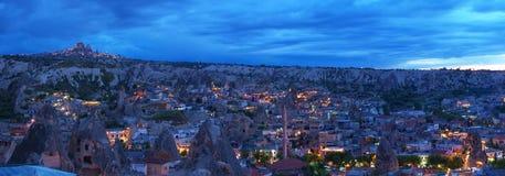 Vista à cidade de Goreme em tarde Imagem de Stock Royalty Free